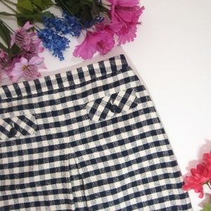 Brooks Brothers Checkered A-Line Skirt